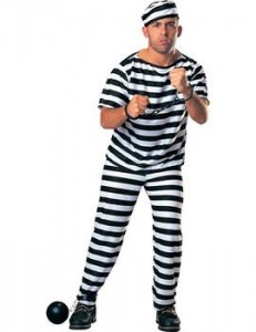 Pustni kostum zapornik s kroglo