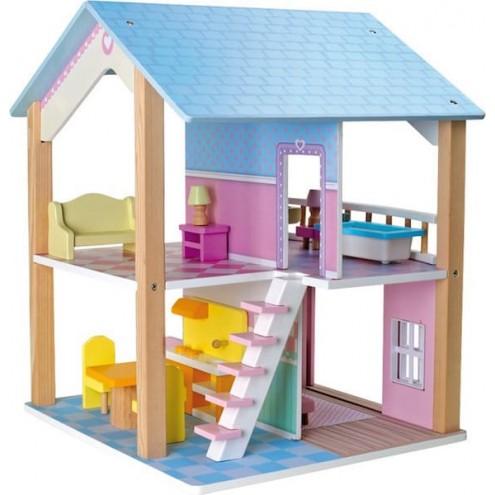 lesena hiška za punčke
